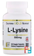 L-Lysine, California Gold Nutrition, CGN, 500 mg, 60 Veggie Caps