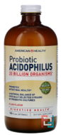 Probiotic Acidophilus, American Health, Plain Flavor, 16 fl oz (472 ml)
