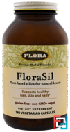 FloraSil, Plant Based Silica for Natural Beauty, Flora, 180 Veggie Caps