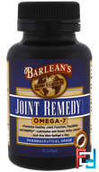 Joint Remedy, Omega-7, Barlean's, 30 Softgels