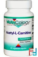 Acetyl-L-Carnitine, Nutricology, 60 Veggie capsules
