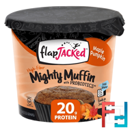 Mighty Muffin, with Probiotics, Maple Pumpkin, FlapJacked, 1.94 oz, 55 g