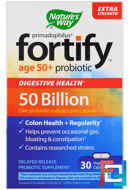 Primadophilus, Fortify, Age 50+ Probiotic, Extra Strength, Nature's Way, 30 Veggie Capsules
