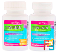 Prenatal Multivitamin/Mineral + DHA, 2 Bottles, 21st Century, 60 Tablets / 60 Softgels
