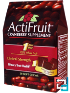 ActiFruit, Cranberry Supplement, Enzymatic Therapy, 20 Soft Chews
