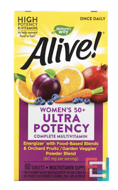 Alive! Once Daily, Women's 50+ Multi-Vitamin, Nature's Way, 60 Tablets