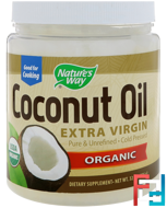 Organic, Coconut Oil, Extra Virgin, Nature's Way, 32 oz (896 g)