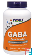 GABA, Powder, Now Foods, 170 g