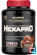 Hexapro, Ultra-Premium Protein + MCT & Coconut Oil, ALLMAX Nutrition, 5.5 lbs, 2500 g - Chocolate