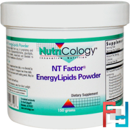 NT Factor, EnergyLipids Powder, Nutricology, 150 grams