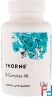 B-Complex #6, Thorne Research, 60 Vegetarian Capsules