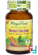 Women's One Daily, Whole Food Multivitamin & Mineral, MegaFood, 30 Tablets