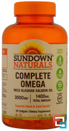 Complete Omega, 1400 mg, Sundown Naturals, 90 Softgels