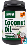 Organic Extra Virgin Coconut Oil, Expeller Pressed, Jarrow Formulas, 32 fl oz (946 ml)