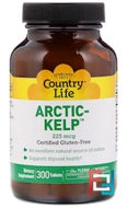 Arctic-Kelp, Country Life, 225 mcg, 300 Tablets