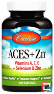 Aces + Zn, Carlson Labs, 120 Soft Gels