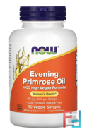 Evening Primrose Oil, Now Foods, 1000 mg, 90 Veggie Softgels