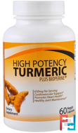 High Potency Turmeric Plus Bioperine , Divine Health, 60 Veggie Caps