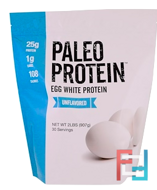 Paleo Protein, Egg White Protein, Julian Bakery, Unflavored, 2 lbs, 907 g
