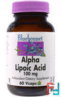 Alpha Lipoic Acid, Bluebonnet Nutrition, 100 mg, 60 Vcaps