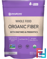 Whole Food, Organic Fiber with Enzymes and Prebiotics, Unflavored, MRM, 9.3 oz (256 g)