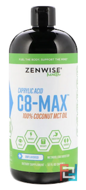 C8-MAX, Caprylic Acid MCT Oil, Metabolism Booster, Zenwise Health, Unflavored, 32 fl oz, 946 ml