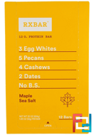 Protein Bars, Maple Sea Salt, RXBAR, 12 Bars, 1.83 oz (52 g) Each