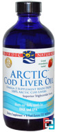 Arctic Cod Liver Oil, Strawberry, Nordic Naturals, 8 fl oz (237 ml)