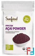 Amazon Acai Powder, Sunfood, 4 oz, 113 g
