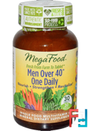 Men Over 40 One Daily, Iron Free, MegaFood, 30 Tablets