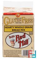 Hearty Whole Grain Bread Mix, Gluten Free, Bob's Red Mill, 20 oz (567 g)