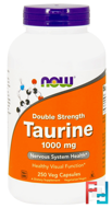Taurine, Now Foods, 1000 mg, 250 Capsules