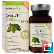 5-HTP Plus, NatureWise, 200 mg, 30 Veggie Capsules