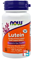 Lutein, Now Foods, 10 mg, 120 Softgels