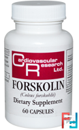Forskolin, Cardiovascular Research, 250 mg, 10%, 60 Capsules
