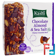 Chewy Granola Bars, Chocolate Almond & Sea Salt with Chia, Kashi, 6 Bars, 1.2 oz (35 g) Each