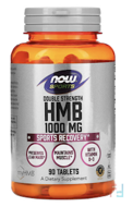 HMB, Double Strength, Now Foods, 1000 mg, 90 Tablets