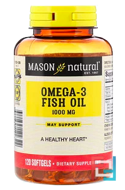 Fish Oil, Mason Natural, 1.000 mg, 90 Softgels