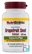Grapefruit Seed Extract, With Echinacea & Artemisia Annua, High Potency, NutriBiotic, 125 mg, 90 Vegan Capsules