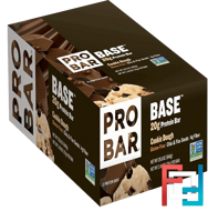 20 g Protein Bar, Cookie Dough, ProBar, Base, 12 Bars, 2.46 oz (70 g) Each