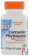 Curcumin Phytosome, With Meriva, Doctor's Best, 500 mg, 60 Veggie Caps