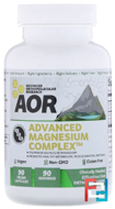 Advanced Magnesium Complex, Advanced Orthomolecular Research AOR, 90 Veggie Caps