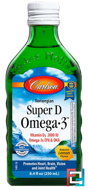 Norwegian Super D Omega·3, Lemon Flavor, Carlson Labs, 8.4 fl oz, 250 ml