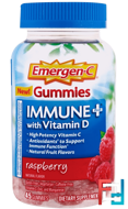Discontinued - Immune Plus with Vitamin D Gummies, Raspberry, Emergen-C, 45 Gummies