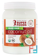 Organic Virgin Coconut Oil, Expeller-Pressed & Unrefined, Dr. Murray's, 54 fl oz, 1.6 l