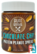 Protein Peanut Spread, Chocolate Chip, Buff Bake, 13 oz (368 g)