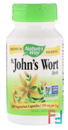 St. John's Wort, Herb, 350 mg, Nature's Way, 100 Capsules