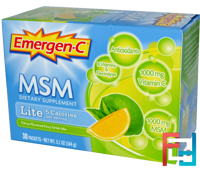 MSM, Lite, Citrus Flavored Fizzy Drink Mix, Emergen-C, 30 Packets, 5.1 oz, 144 g
