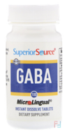 GABA, Superior Source, 100 mg, 100 MicroLingual Instant Dissolve tablets