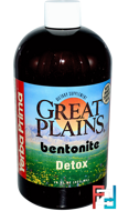 Great Plains, Bentonite, Detox, Yerba Prima, 16 fl oz, 473 ml